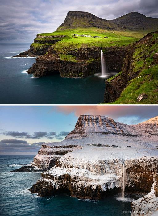 Великолепный пейзажный ландшафт островов называет еще зелеными островами.