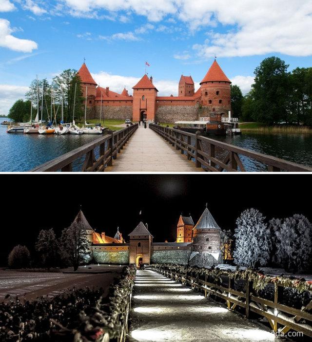 Самый старый замок Литвы, который был построен в начале XIV столетия из красного кирпича и серого камня, расположенный на острове.