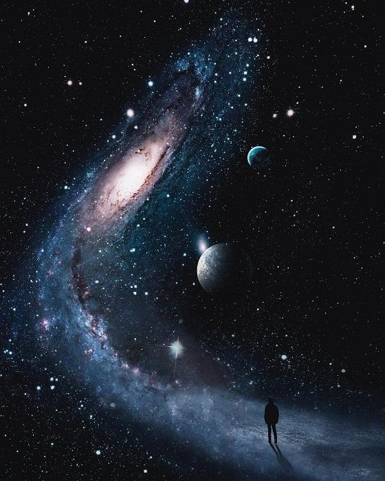 Звездная дорога, которая манит в неизведанные и загадочные дали.