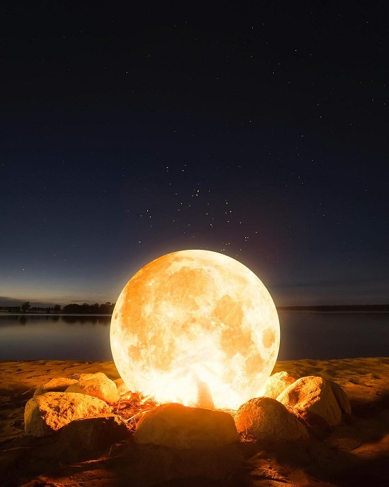 Небесное светило изображающее пламя костра.