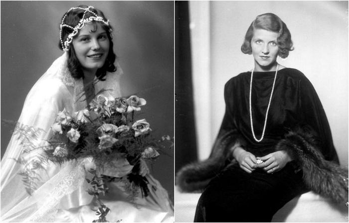 Монохромные портреты шведских девушек 1930-х годов.