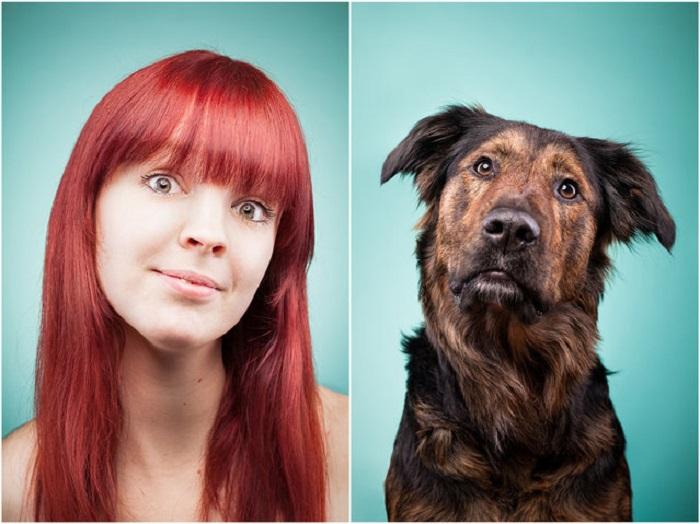 Яркая Энн Кристин и ее собака Паула - очень добродушные личности.