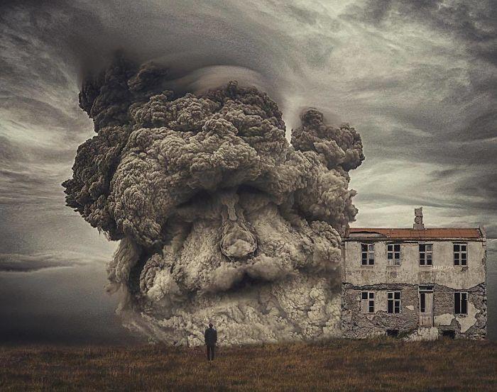 Иногда штормовые тучи принимают довольно странные очертания…