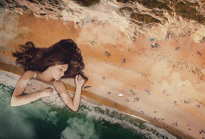 Сюрреалистические сновидения, воспроизведенные с помощью графического редактора и воображения художника.