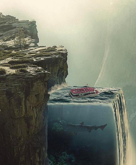 Кусочек моря в виде гигантского аквариума у отвесных скал… почему бы и нет?