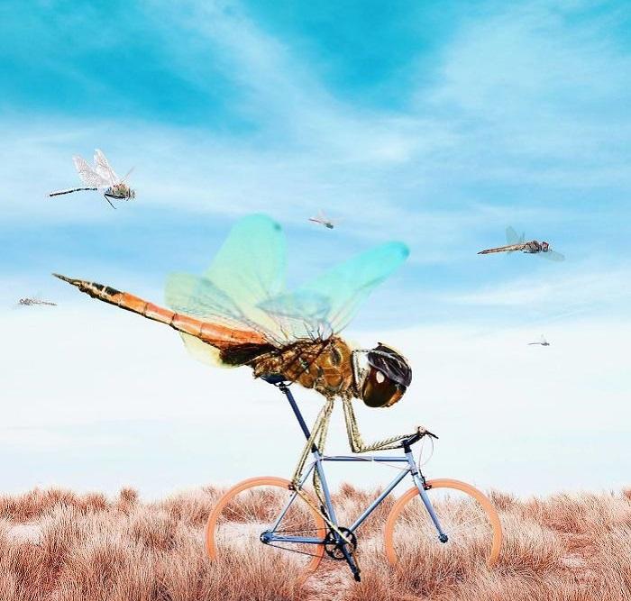 Для своих картин иранский цифровой художник находит совершенно неожиданные и удивительные сюжеты.