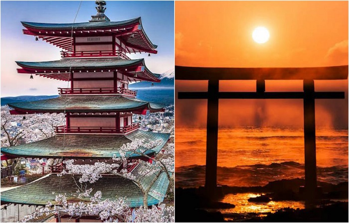 Колоритные японские пейзажи.