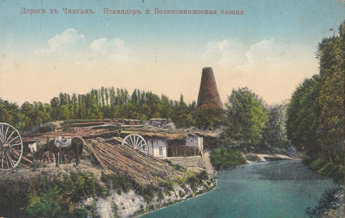 Поселок в окрестностях Ташкента.