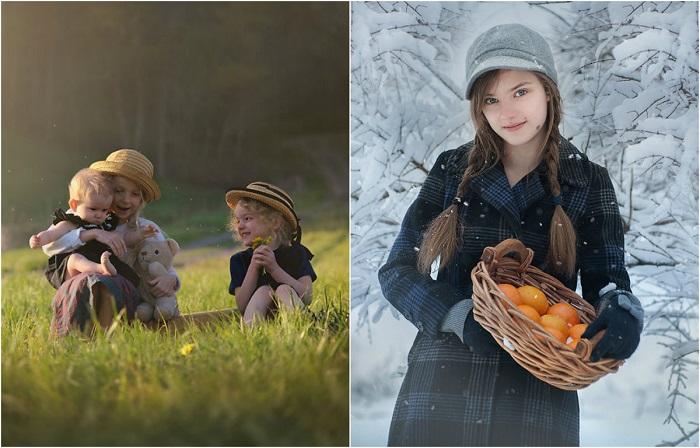 Добры и милые детские портреты.