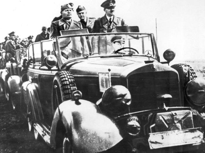 Гитлер и Муссолини на Восточном фронте, Полтава, 1942 года.