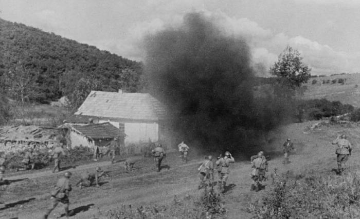 Первые бои на южном фронте.