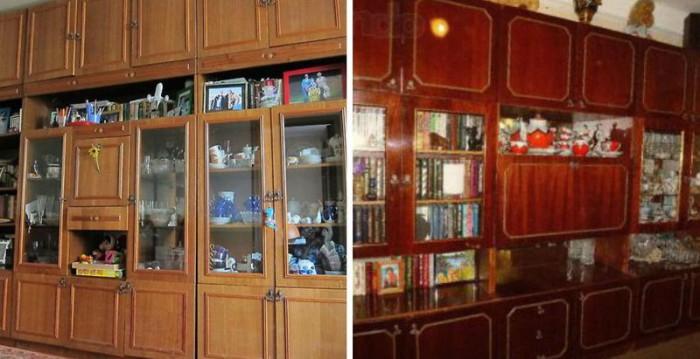 Стенка занимала центральное место в комнате. В ней хранили всё: книги, сувениры, посуду, фотографии...