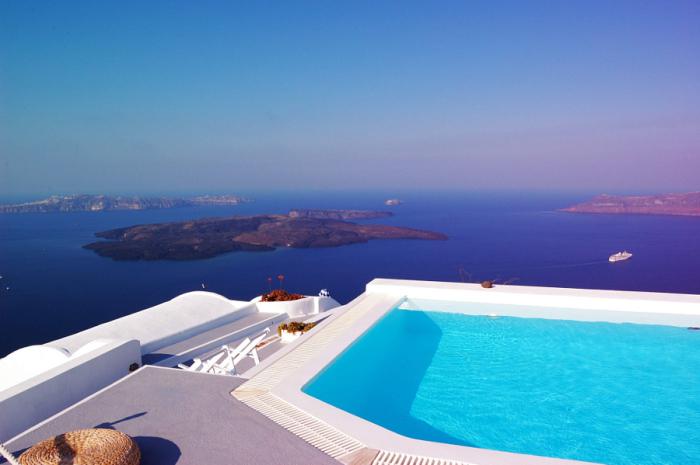 Вид на острова из отеля.