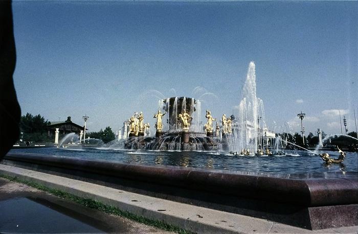 Фонтан «Дружба народов», который находится на одноименной площади, был возведен к открытию ВДНХ в 1954 году.