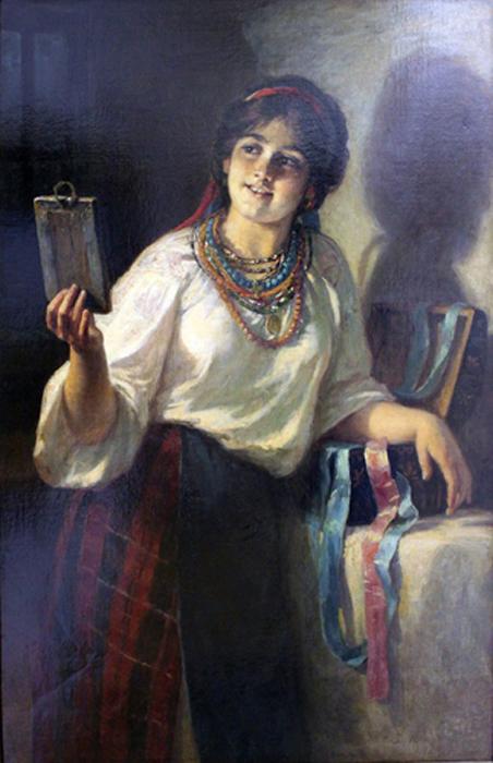 Автор картины – русский жанровый живописец Платонов Харитон Платонович.