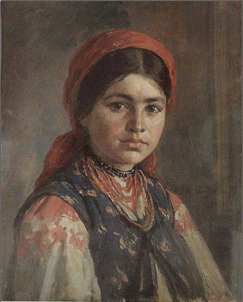 Автор картины – русский живописец и портретист Платонов Харитон Платонович.