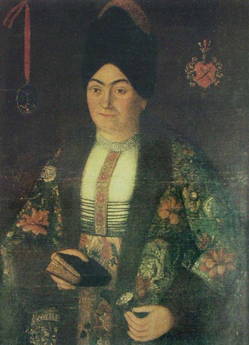 Портрет жены гетмана Ивана Сулимы, нарисованный неизвестным художником.