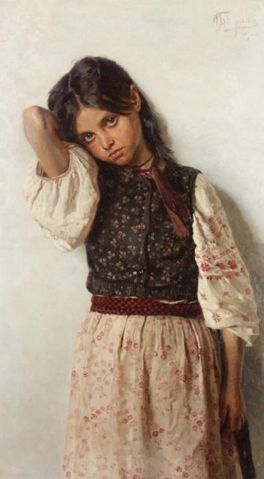 Автор картины – русский художник-портретист Бодаревский Николай Корнилиевич.