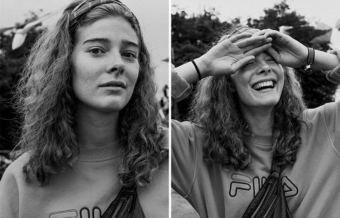 Портреты незнакомцев до и после поцелуя с фотографом.