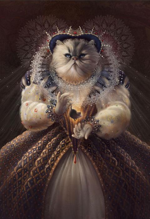 Кошка по кличке Леди вдохновила фотографа на создание такого образа.