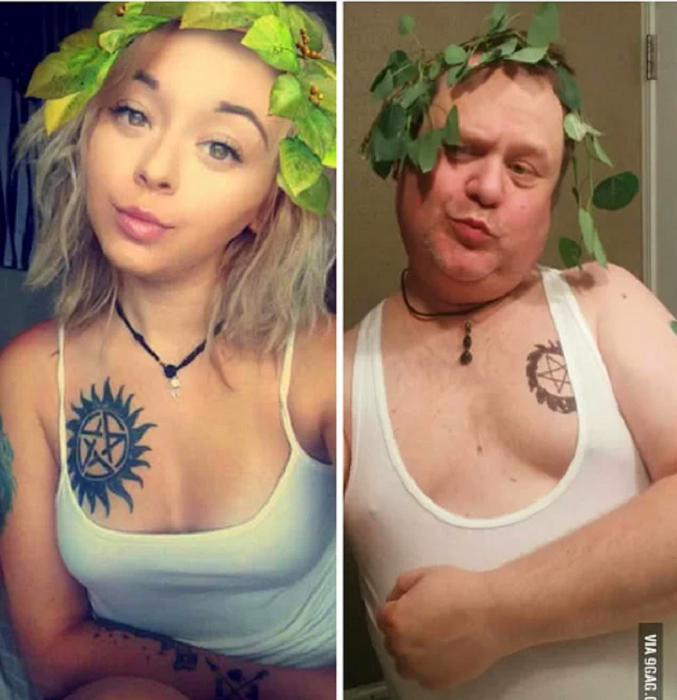 Отец сделал собственное селфи, увидев фотографию дочери в Instagram.