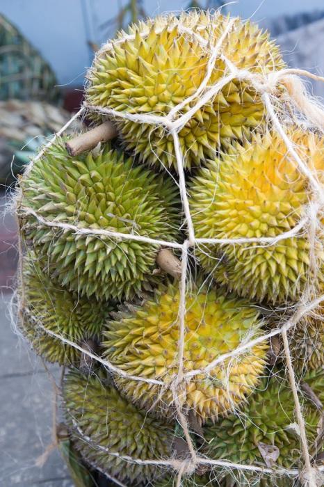 Не смотря на запах, желто-красная мякоть фрукта очень приятна на вкус и напоминает смесь сливок, банана и яичного желтка.