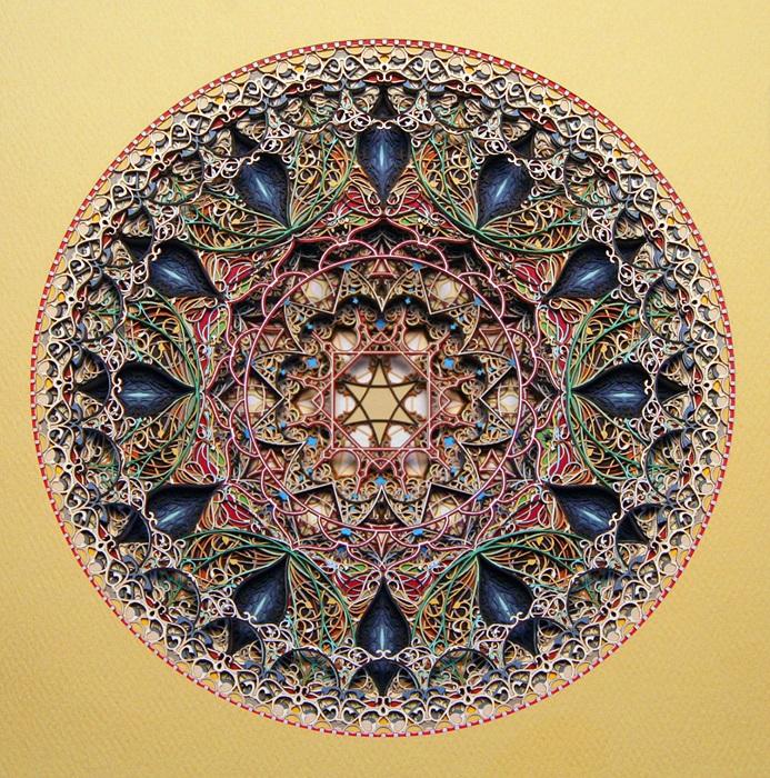 Наслоение нескольких сотен слоев из цветной бумаги дает превосходный трехмерный объем работам Эрика Стэндли.