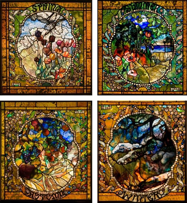 Известнейший витраж от дома Тиффани, был одним из первых творений мастера представленных на всемирных выставках и арт-галереях.