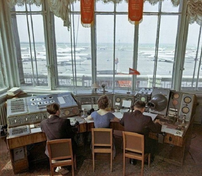 Командно-диспетчерский пункт аэропорта Внуково, 1961 год.