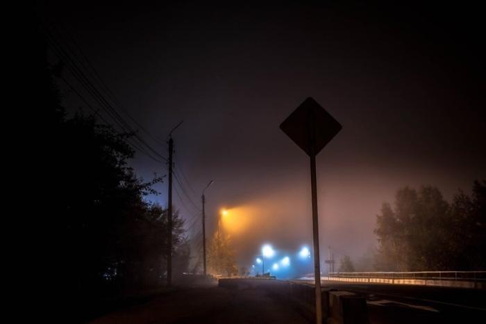 Туман и ночная тишина.