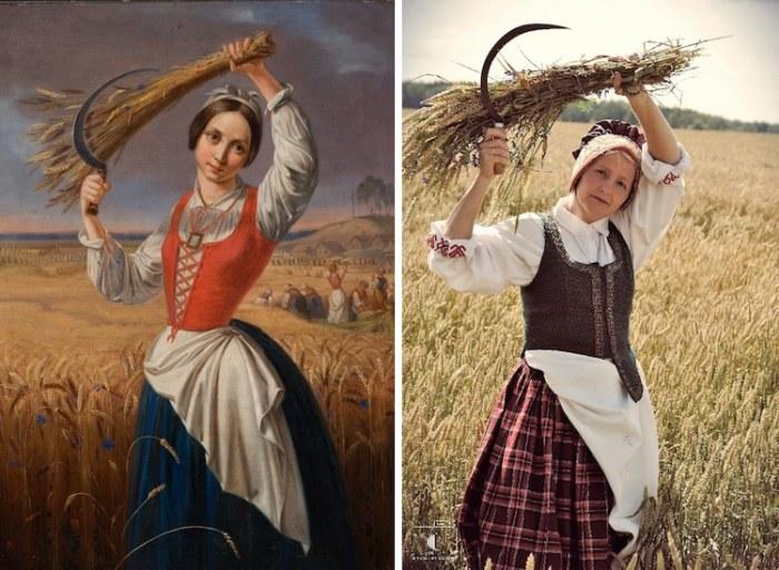 Eglandas Visinskas удалось довольно точно воплотить картину в фотографию.