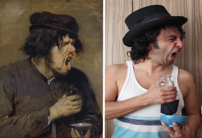 Действительно горькое зелье или мужчина очень талантливо позирует художнику, как и на фотографии Sahan Gurkan?