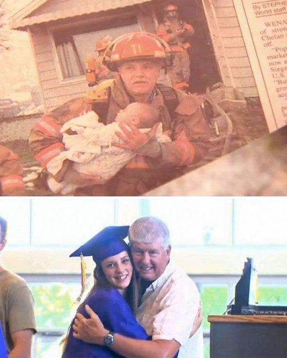 Девушка пригласила полицейского, спасшего ей жизнь 18 лет назад, на выпускной бал, и он, принял это приглашение.