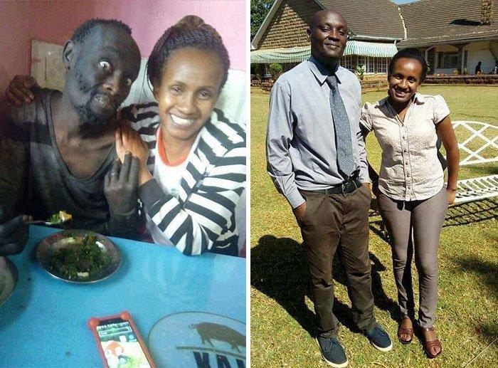 Жительница Кении узнала в бездомном наркомане своего друга детства и помогла ему вернуться к нормальной жизни.