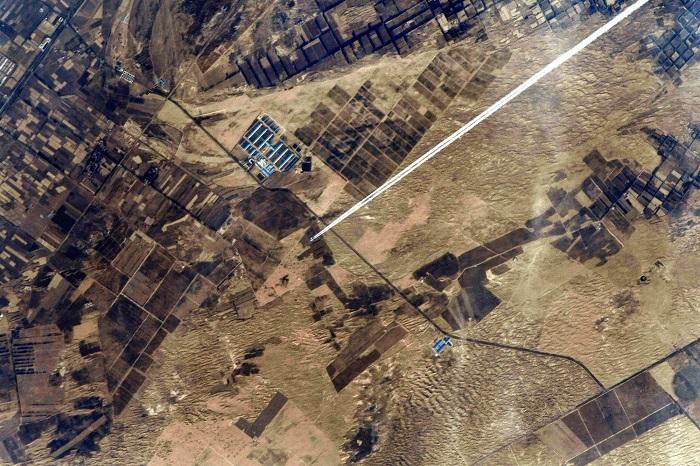 Земной пейзаж сфотографирован с МКС.