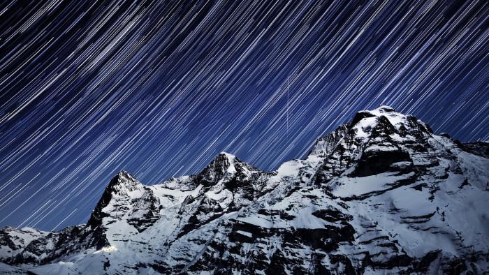 Горная вершина в Бернских Альпах, высота 3970 метров над уровнем моря.