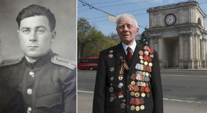 89-летний Георгий Парул из Кишинева, Молдавия.