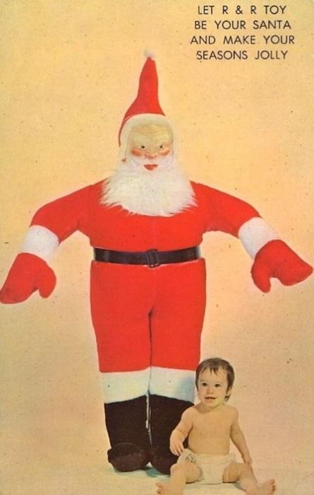 Огромный Санта-Клаус обязательно сделает ваши праздники веселее!