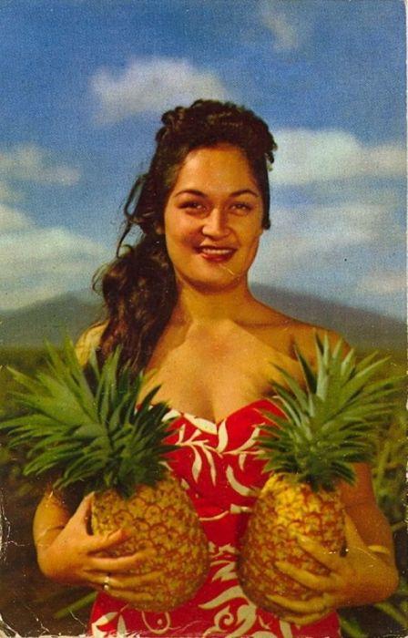 Ананасы являются одной из основных культур штата Гавайи, поэтому их популяризировали любыми возможными способами.