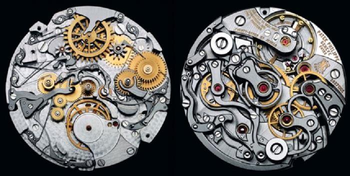 Механизм часов, созданный компанией «Патек Филипп» — признанными самыми непревзойденными часовыми мастерами в истории.