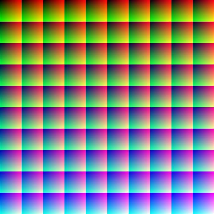 Изображение, которое содержит миллион разных цветов.