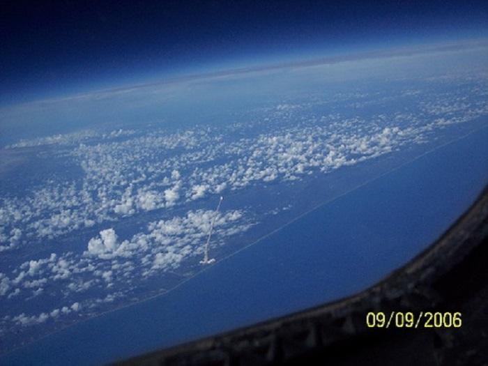 Запуск шаттла - вид со спутника.