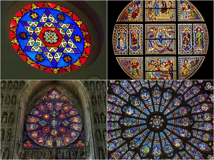Самые красивые и необычные витражи святых мест в мире.