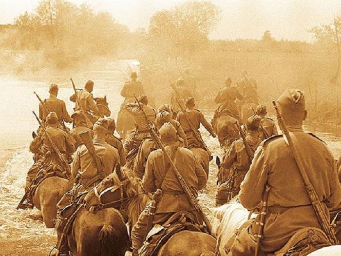 Переправа кавалерии.