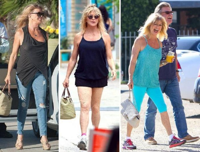 Актриса и мать троих детей не стесняется своей фигуры и в свои 72 демонстрирует отличные формы.
