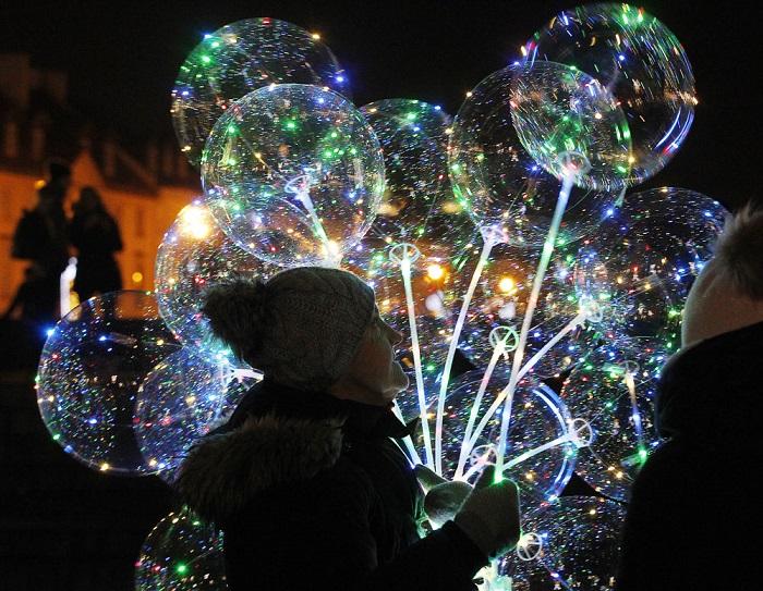 Новогодние гуляния в польской столице.