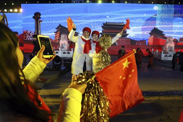 Празднование Нового года в Китае.