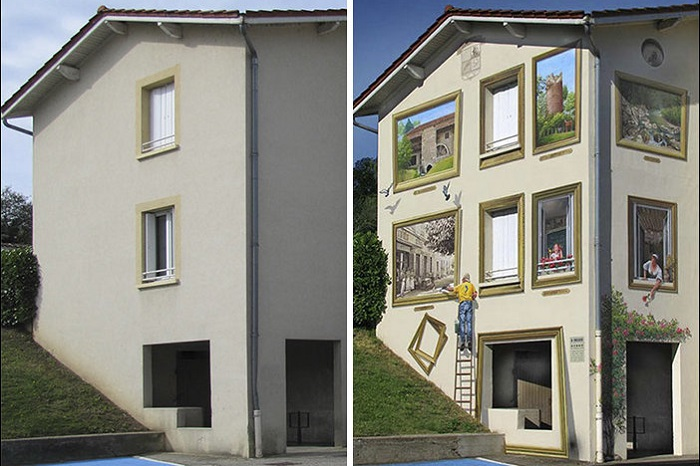 Огромные гиперреалистичные фасады, благодаря которым оживают некогда пустые и скучные стены.
