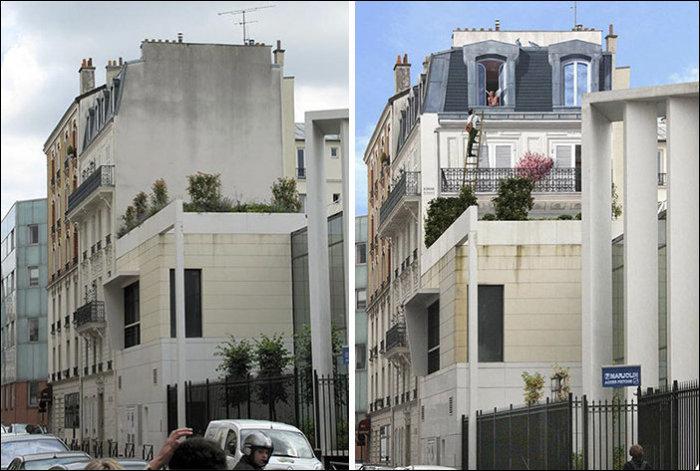 Оживают на фасадах домов.