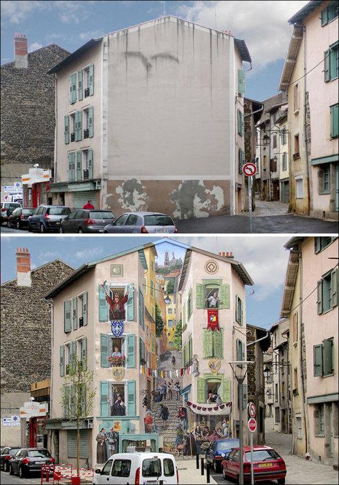 Панорама из жизни французского городка.